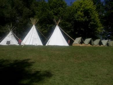 teepee na tábore